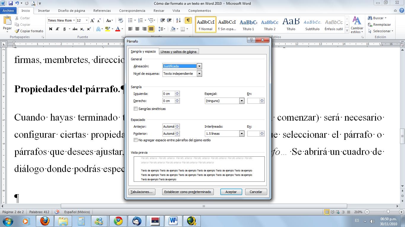Magnífico Reanudar Word Formato 2010 Ornamento - Ejemplo De ...